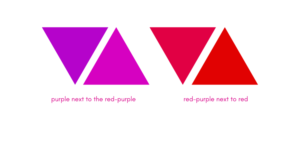 purple and red colour theory for artists