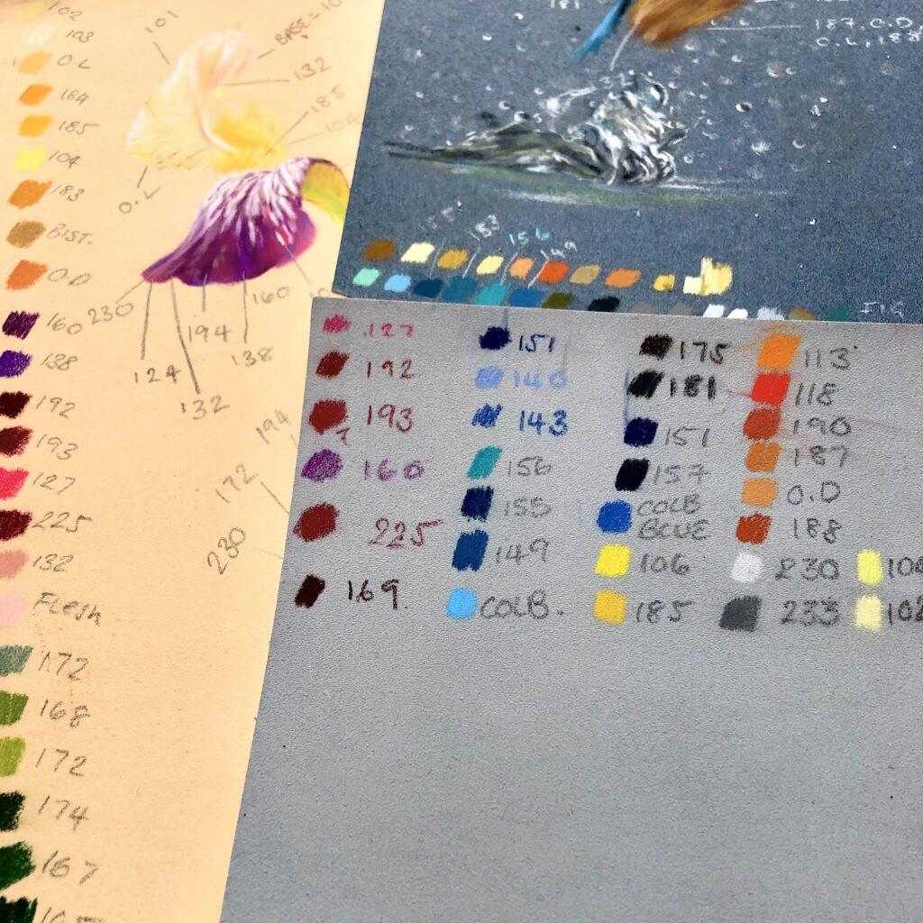 pastel paper colours