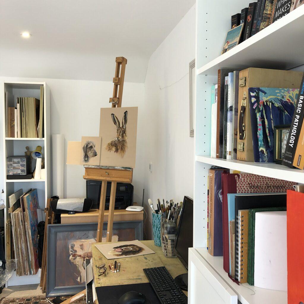 at home art studio